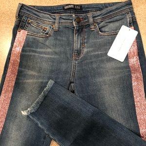 Size 6 Zara Basic z1975 Denim skinny jeans stripe